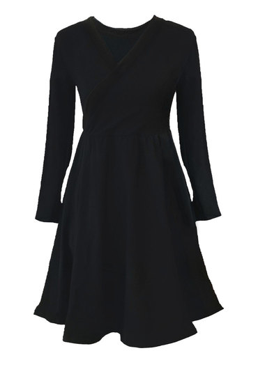 0 Seireeni II Dress Petit WRAP Black