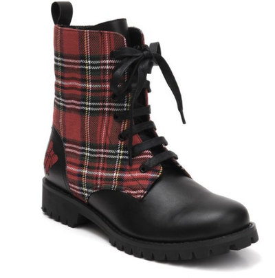 0 Shelly Tartan Boot vegan