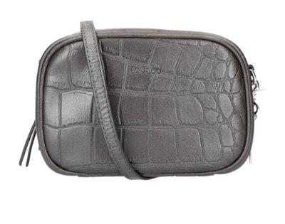 0 Shiny Croco Pouch dark grey