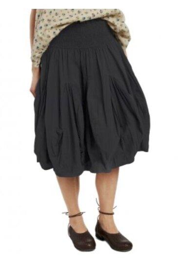 0 Skirt Crisp Cotton (musta, okra)
