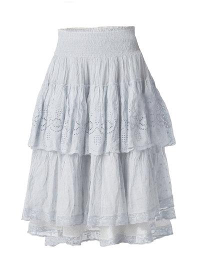 0 Skirt Dot Organdie Ice Blue