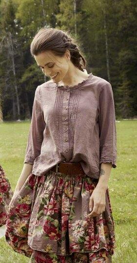 0 Skirt Original Flower Cotton