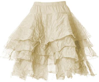 0 Skirt Tine Hard Voile Oat
