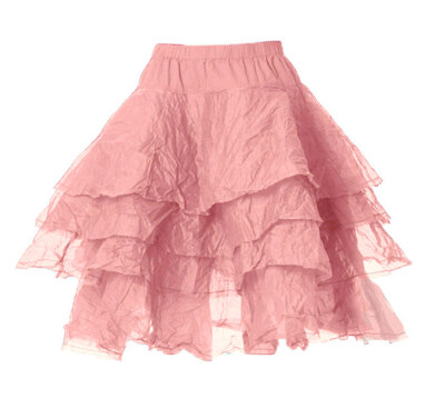 0 Skirt Tine Hard Voile Old Rose