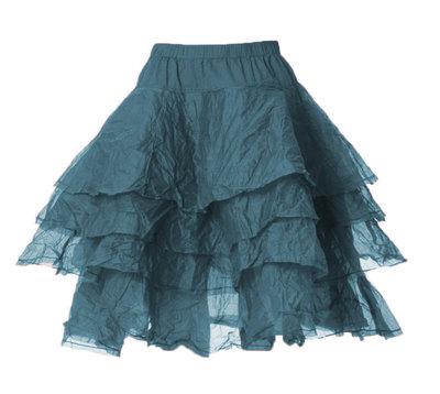 0 Skirt Tine Hard Voile Petrol