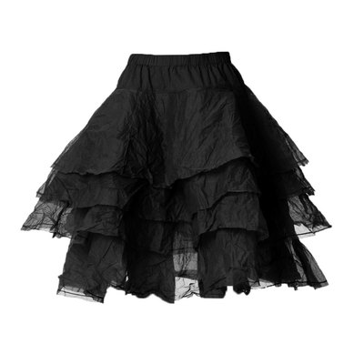 0 Skirt Tine Hard Voile Vintage Black