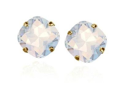 0 Starstruck Gold-White Opal Stud Earrings/Nappikorvakorut