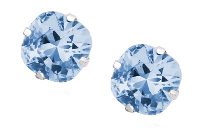 0 Starstruck white/blue stud earrings/nappikorvakorut