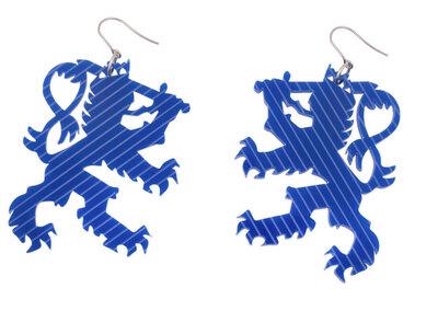 0 Suomen Leijona Sininen korvakorut