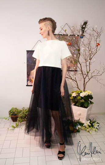 0 Swan Tulle Skirt Black