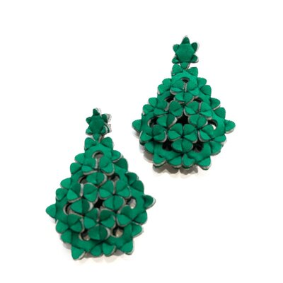 0 The Diamond Earrings Green