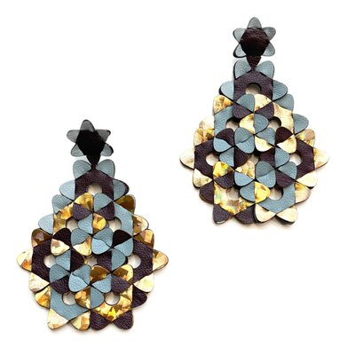 0 The Diamond Earrings Multicolour Ice-Blue-Gold
