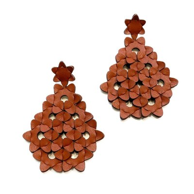 0 The Diamond earrings Brown