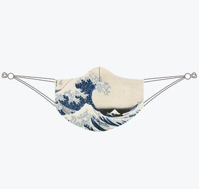 0 The Great Wave Kasvosuojain-maski (Katsushika Hokusai)