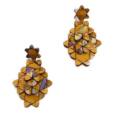 0 The Kite Earrings Multicolour Ochre 1