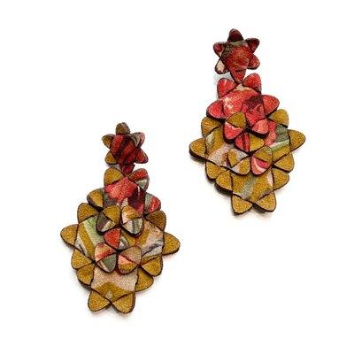 0 The Kite Earrings Multicolour Ochre 2