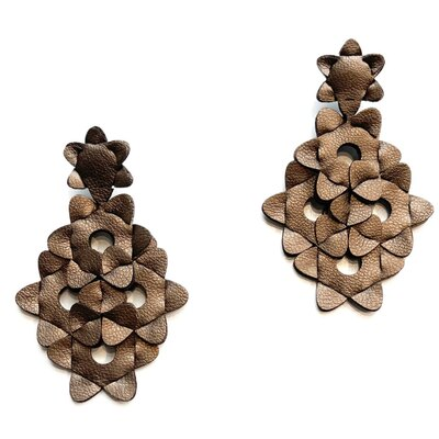 0 The Kite Earrings Unicolor Bronze