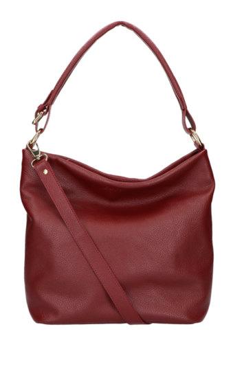 0 Tote Bag Beau Veau Dark Red