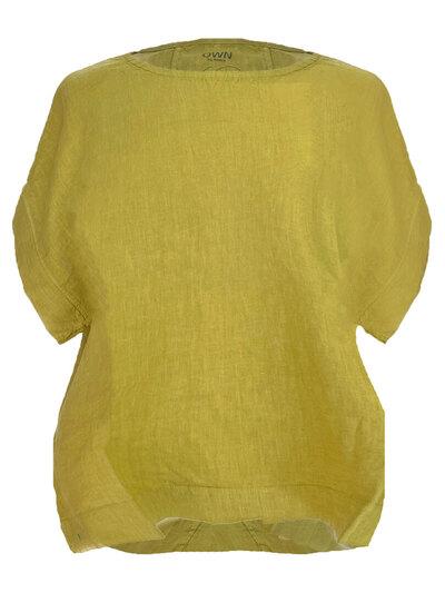 0 Wide Shirt Lime Linen