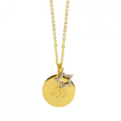 0 You Rock necklace gold