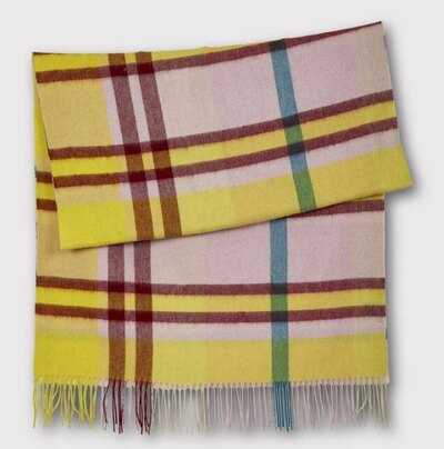 0 check it out scarf yellow-purple