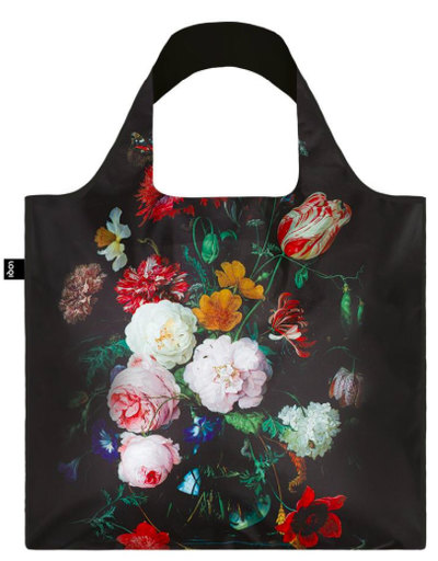 JAN DAVIDSZ de HEEM Still Life with Flowers in a Glass Vase Bag