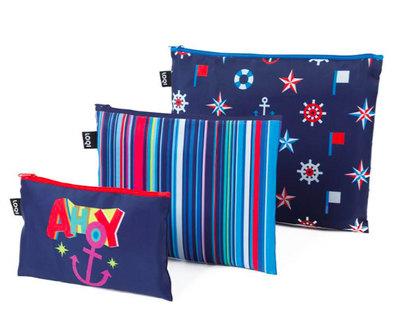 NAUTICAL Ahoy-Stripes-classic Zip Pockets