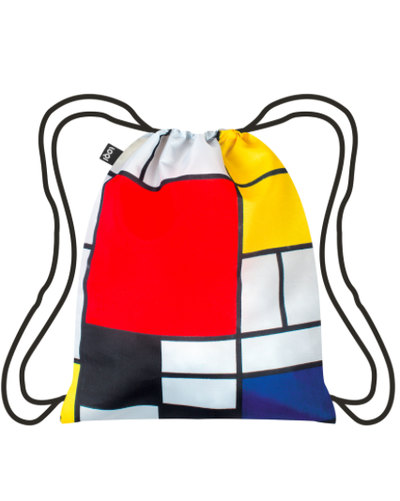 PIET MONDRIAN Composition Red Yellow Blue Black Backpack