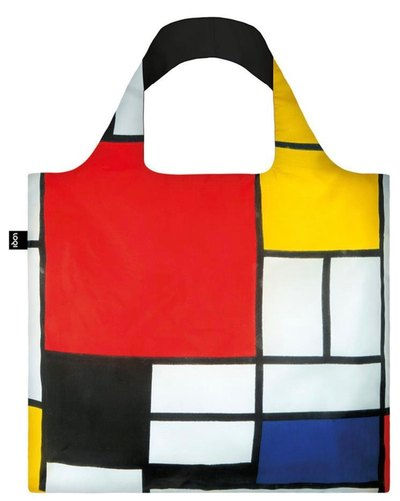 Piet Mondrian Composition with Red Blue Yellow and Black Bag