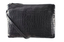 0 Clutch Crocodilian Black