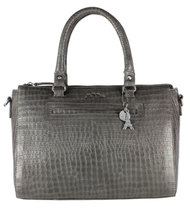 0 Crocodilian Hand Bag Grey