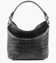 0 Vintage Croco Tote Bag Black