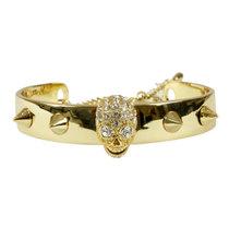 0 Stud Skull Bracelet Gold
