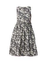 0 Dress Black Flower Cotton