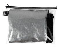 Weekender tulee pakattuna läpinäkyvään Zip-pussiin