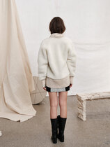 0 Sheltering Wool Bomber Jacket Off White