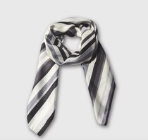0 Stripes Silkkihuivi-Silk scarf Grey Multi
