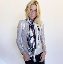 0 Stripes Silkkihuivi-Silk scarf Grey Multi