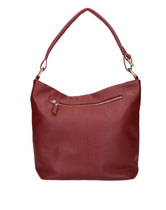 0 Tote Bag Beau Veau Dark Red