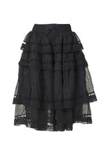 0 Voile Vintage skirt Black