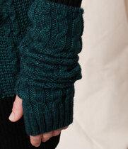 0 Wool Braids Gloves Green
