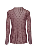 Alda Mesh Shirt Plum