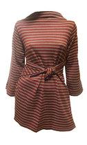 Tunika-tyyliin puettu, selkä eteen, helmat takaa ristiin, solmitaan eteen.